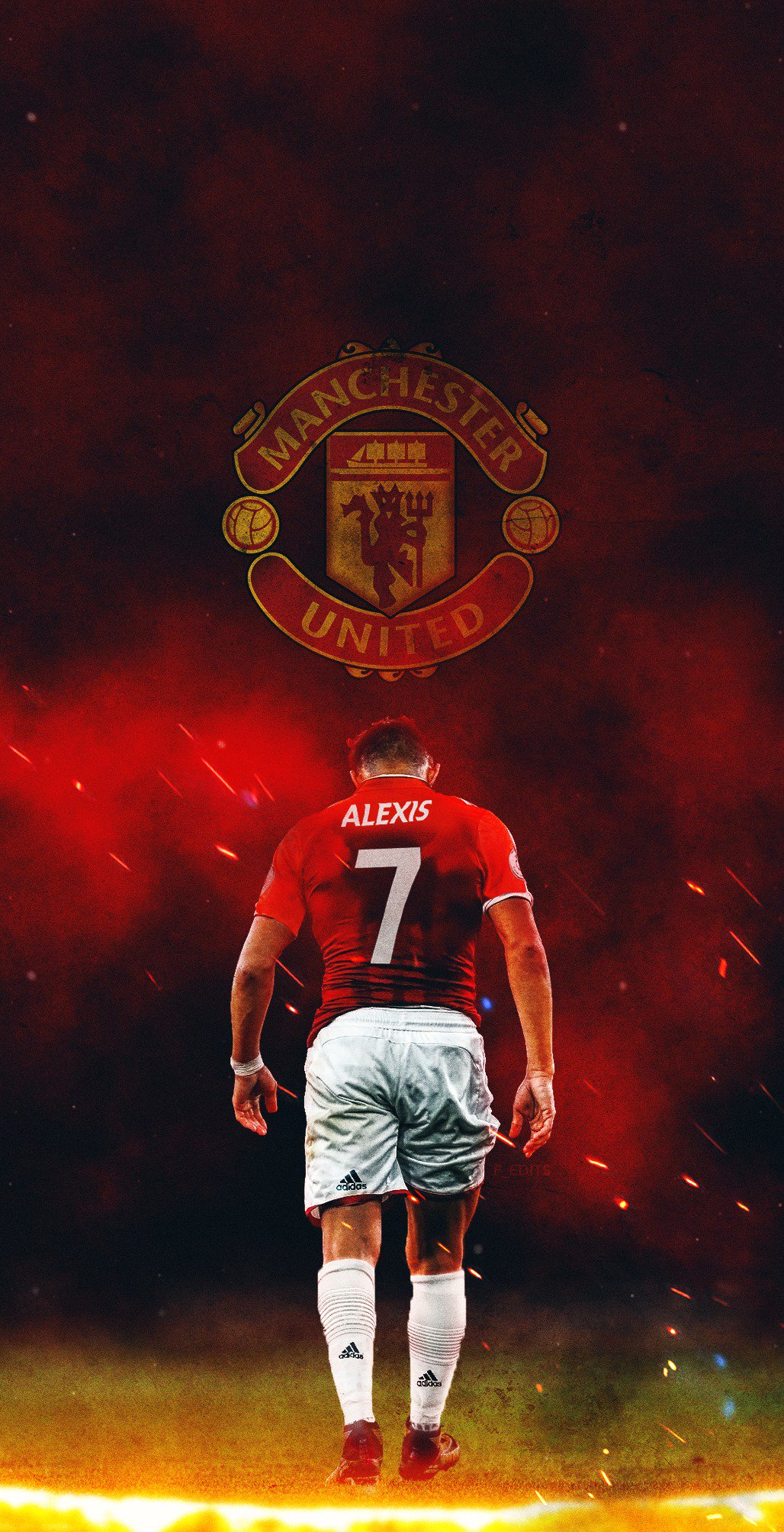 Alexis Sanchez Hd Mobile Wallpapers At Manchester United Man Utd Core